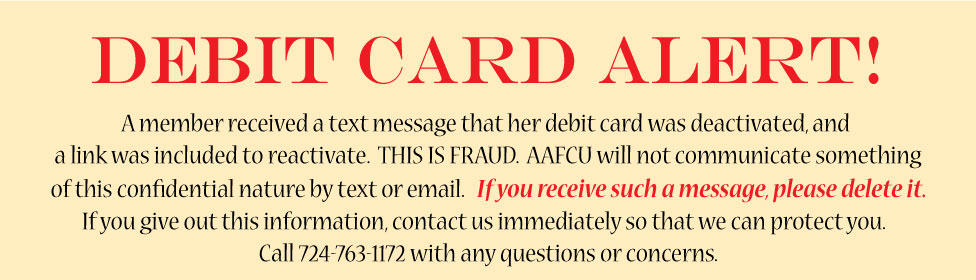 Debit Card Alert