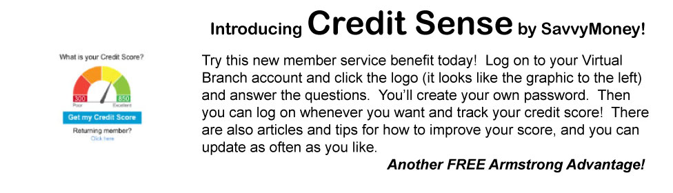 Credit Sense, tracking your credit score
