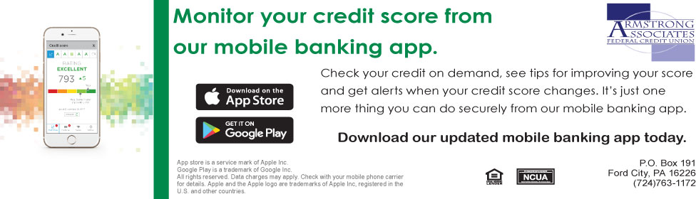 cell phone with Credit Sense app open