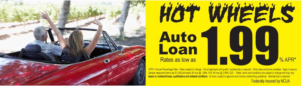 Hot Wheels Auto Loan rates