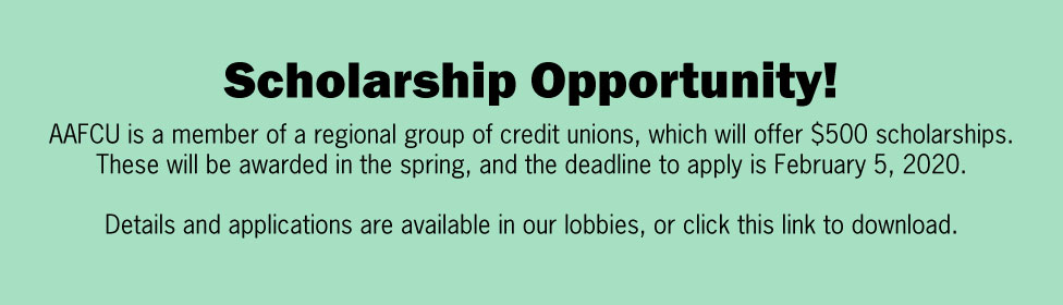 2020 scholarships announcement