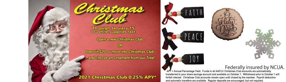 Christmas Club ornament promotion