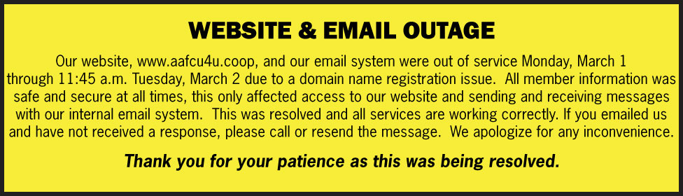 Website & Email Outage